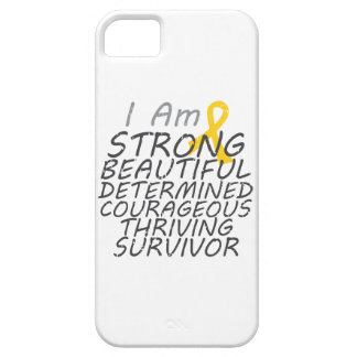 Childhood Cancer I Am Strong Survivor iPhone 5 Cover