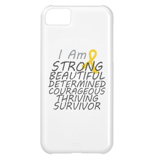 Childhood Cancer I Am Strong Survivor Cover For iPhone 5C