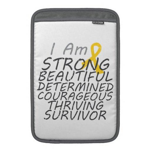 Childhood Cancer I Am Strong Survivor MacBook Air Sleeve