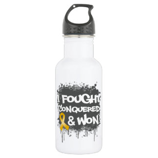 Childhood Cancer I Fought Conquered Won 532 Ml Water Bottle