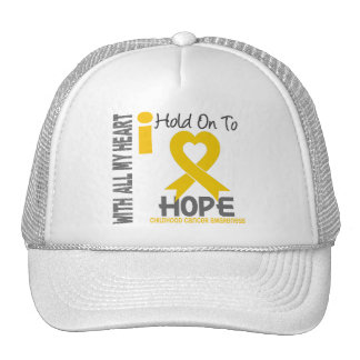 Childhood Cancer I Hold On To Hope Cap