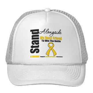 Childhood Cancer I Stand Alongside My Best Friend Mesh Hats