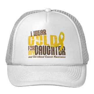 Childhood Cancer I WEAR GOLD FOR MY DAUGHTER 6.3 Trucker Hat