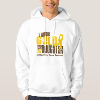 Childhood Cancer I WEAR GOLD FOR MY DAUGHTER 6.3 Hoodie