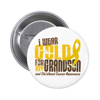 Childhood Cancer I WEAR GOLD FOR MY GRANDSON 6.3 6 Cm Round Badge