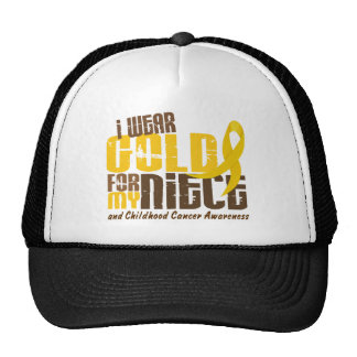 Childhood Cancer I WEAR GOLD FOR MY NIECE 6.3 Cap