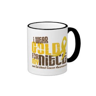 Childhood Cancer I WEAR GOLD FOR MY NIECE 6.3 Coffee Mug