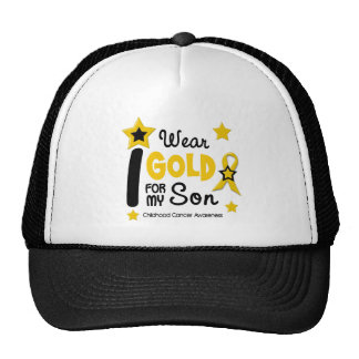 Childhood Cancer I Wear Gold For My Son 12 Cap