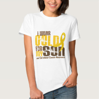 Childhood Cancer I WEAR GOLD FOR MY SON 6.3 Tee Shirts