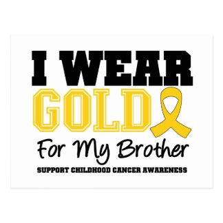 Childhood Cancer I Wear Gold Ribbon Brother Postcard