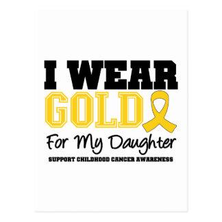 Childhood Cancer I Wear Gold Ribbon Daughter Postcard