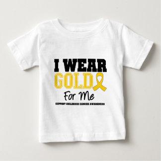 Childhood Cancer I Wear Gold Ribbon For Me T Shirts