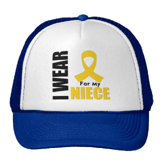 Childhood Cancer I Wear Gold Ribbon For My Niece Hat