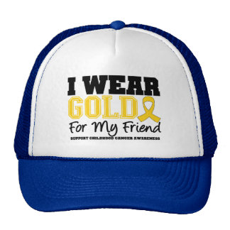Childhood Cancer I Wear Gold Ribbon Friend Hat