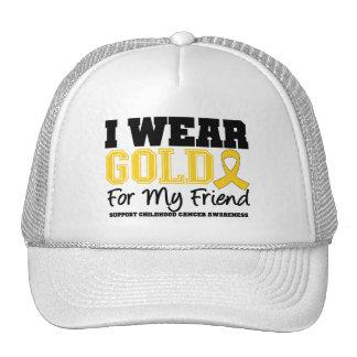 Childhood Cancer I Wear Gold Ribbon Friend Trucker Hat