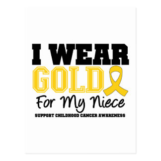 Childhood Cancer I Wear Gold Ribbon Niece Postcard