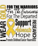 Childhood Cancer I Wear Gold Ribbon TRIBUTE Tee Shirt
