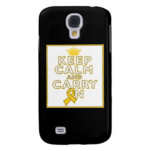 Childhood Cancer Keep Calm and Carry ON Samsung Galaxy S4 Cases