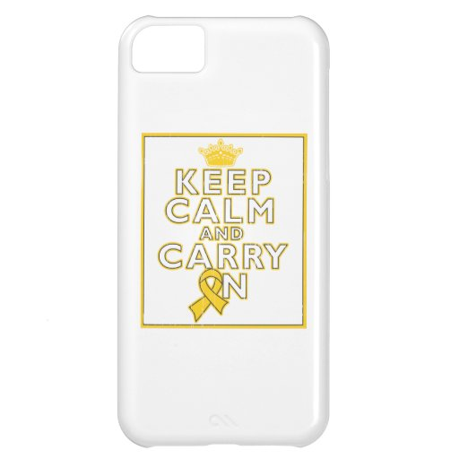 Childhood Cancer Keep Calm and Carry ON iPhone 5C Cover
