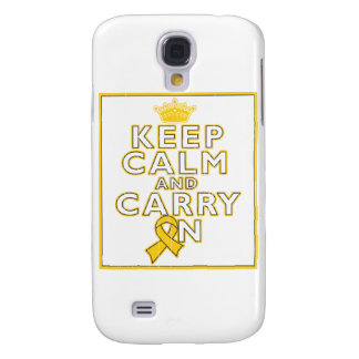 Childhood Cancer Keep Calm and Carry ON Samsung Galaxy S4 Case