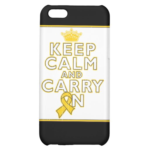 Childhood Cancer Keep Calm and Carry ON iPhone 5C Cases