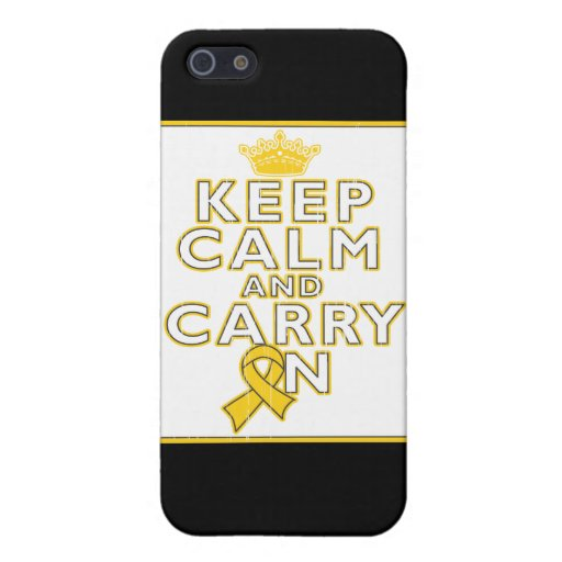 Childhood Cancer Keep Calm and Carry ON iPhone 5 Case