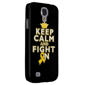 Childhood Cancer Keep Calm Fight On Galaxy S4 Cover