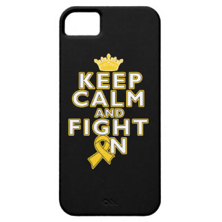 Childhood Cancer Keep Calm Fight On iPhone 5 Case