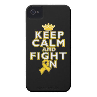 Childhood Cancer Keep Calm Fight On iPhone 4 Cases