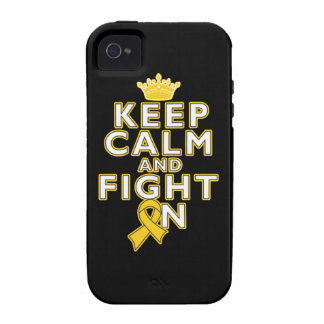 Childhood Cancer Keep Calm Fight On Vibe iPhone 4 Case