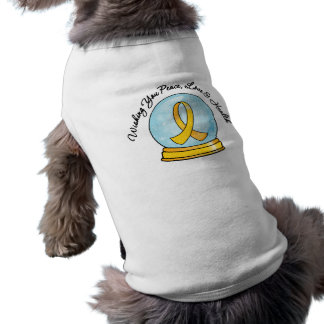 Childhood Cancer Merry Christmas Snowglobe Dog Clothes