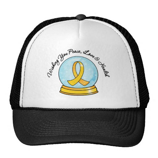 Childhood Cancer Merry Christmas Snowglobe Hats