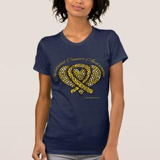 Childhood Cancer Mosaic Heart Ribbon T-Shirt