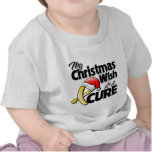 Childhood Cancer My Christmas Wish is a Cure Tshirt