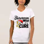 Childhood Cancer My Christmas Wish is a Cure Tee Shirts