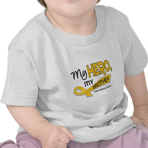 Childhood Cancer MY HERO MY BROTHER 42 Tee Shirt