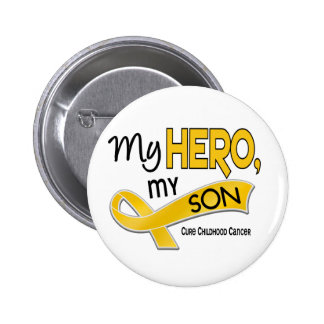 Childhood Cancer MY HERO MY SON 42 6 Cm Round Badge