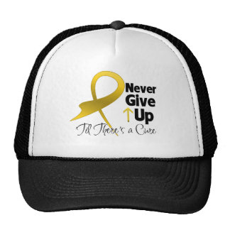 Childhood  Cancer Never Give Up Cap