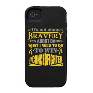 Childhood Cancer Not About Bravery iPhone 4 Cases