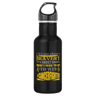 Childhood Cancer Not About Bravery 532 Ml Water Bottle