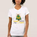 Childhood Cancer Peace Love Joy Cure T Shirt