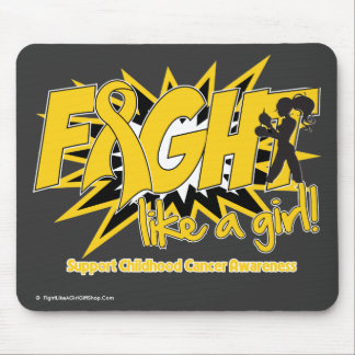 Childhood Cancer POW Style Fight Like A Girl Mouse Pad