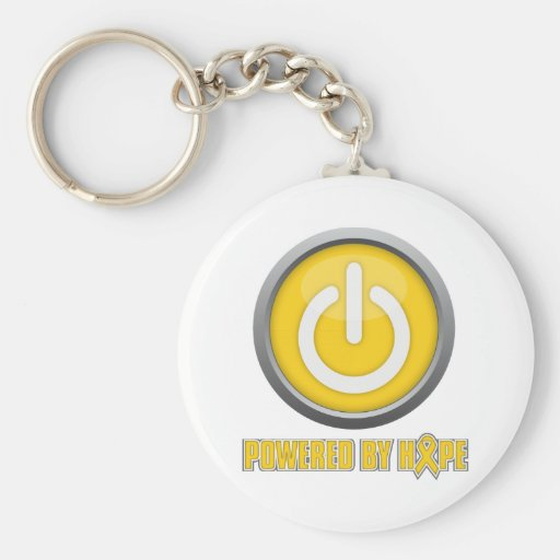 Childhood Cancer Powered by Hope Key Chain