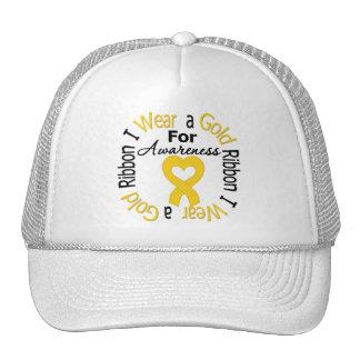Childhood Cancer Ribbon For Awareness Mesh Hat