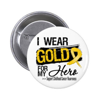 Childhood Cancer Ribbon For My Hero 6 Cm Round Badge