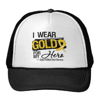 Childhood Cancer Ribbon For My Hero Cap