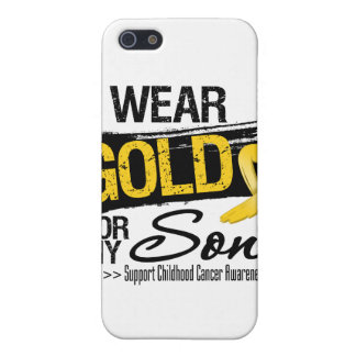 Childhood Cancer Ribbon For My Son iPhone 5/5S Covers