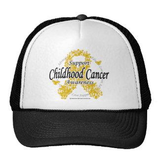 Childhood Cancer Ribbon of Butterflies Cap