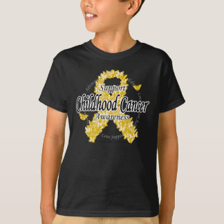 Childhood Cancer Ribbon of Butterflies T-Shirt