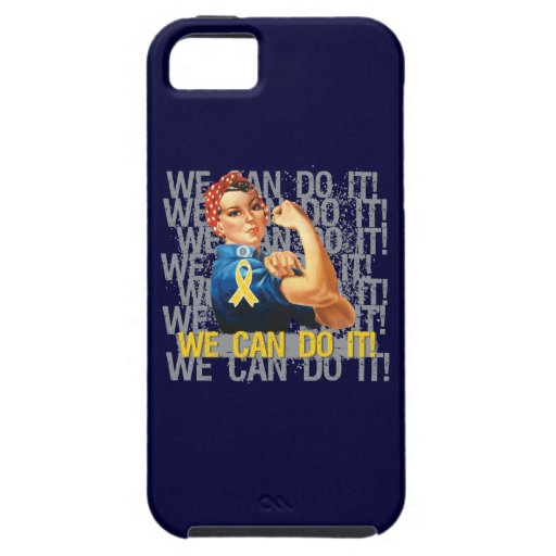 Childhood Cancer Rosie WE CAN DO IT iPhone 5 Cases